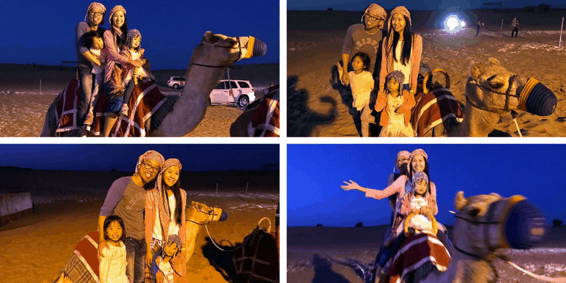 Camel Ride Collage