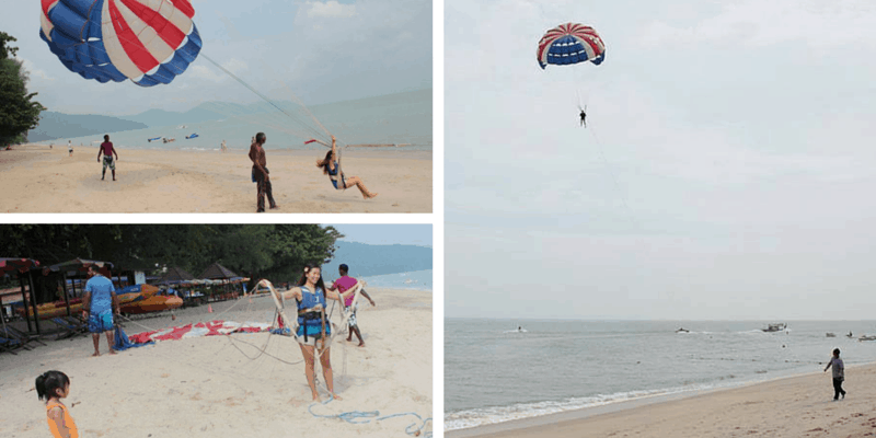 Parasailing Collage